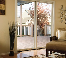 Pella - Sliding Patio Impervia Fiberglass Door